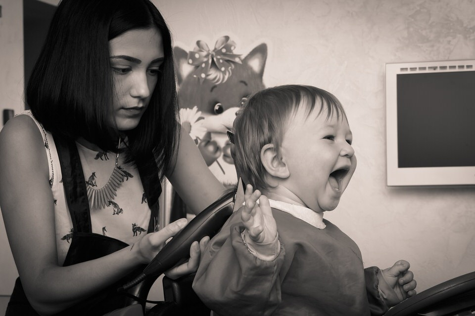 shun's article picture - hairdresser child