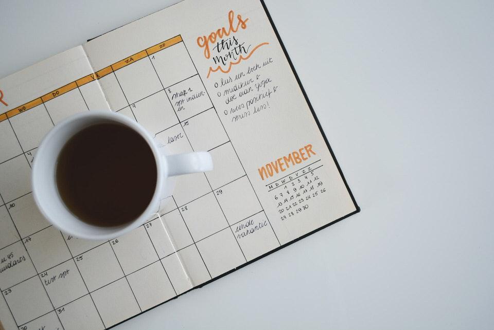 shun's article picture - schedule book