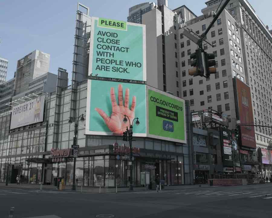 shun's article picture - covid 19 billboard